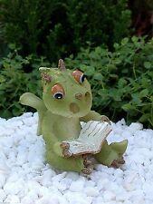 Miniature Dollhouse FAIRY GARDEN ~ Dragon Reading a Book ~ NEW