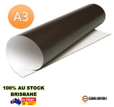 2x Magnetic Sheets A3 X 0.6mm | PVC White Gloss | Sheet Magnet Whiteboard Craft