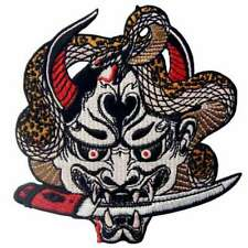 Hannya Oni Mask Iron on Patch Embroidered Patches Transfers Badge Appliques 495r
