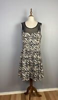 City Chic Womens Plus Size Fit And Flare Black & White Dress Size Small