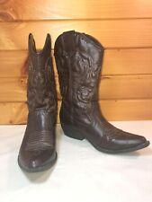Olsenboye Cowboy Western Boots- Dark Brown- Women's Size 8
