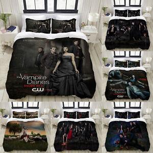 The Vampire Diaries 3PCS Bedding Set Duvet Cover Pillowcases Comforter Cover Set