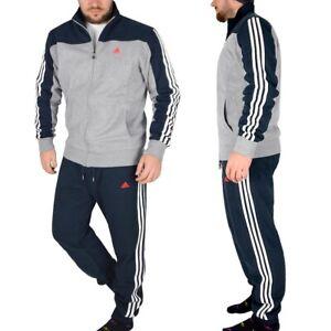 Adidas Tracksuit Jogging Suit Sport Suit Men's Children's Blue/Grey/White