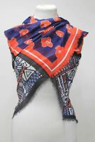 MARCCAIN Ladies Multi-Coloured Floral & Graphic Print Cotton Blend Scarf BNWT