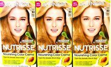 3 Boxes Garnier Nutrisse 83 Cream Soda Medium Golden Blonde Nourish Color Creme