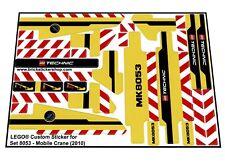 Lego® Custom Pre-Cut Sticker for Lego Technic set 8053 - Mobile Crane (2010)