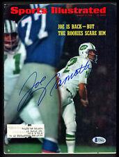 Joe Namath Autographed Signed Sports Illustrated New York Jets Beckett S76621