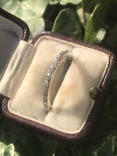 Antique Platinum Full Diamond Eternity Band Ring Art Deco Period