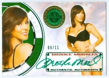 "BROOKE MORALES ""GREEN  AUTOGRAPH CARD #09/11"" BENCHWARMER VEGAS BABY 2013"