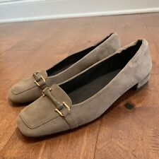 Stuart Weitzman Woman's Suede Loafers Slip On Shoes 8 M Taupe