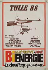 Affiche Championnat TIR à AIR - TIR à L'ARC 1986 Tulle