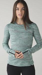 Lululemon Run Runderful Space Dye Camo Forage Long Sleeve Rulu Fabric Top sz 6