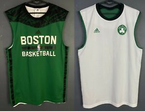 2IN 1 MEN'S BOSTON CELTICS NBA SLEEVELESS BASKETBALL SHIRT JERSEY GREEN SIZE S