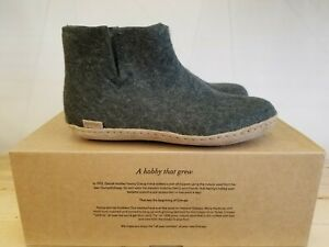 Glerups Forest Slippers 100 % Pure And Natural Wool The Boots Leather For Women