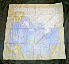 Hermes Contre Courant By Isabelle Barthel Beige Silk Scarf 7239 EUC Pastels 2005