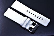 Herren Uhrenarmband Echtleder 26 / 24 mm Weiß für DIESEL Uhren LB DZ 4220 4240
