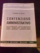 LIBRO contenzioso amministrativo Eduardo Di Salvo Pirola 1980