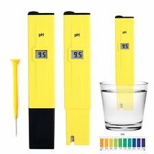 Electric Pocket Digital Ph Meter Tester Hydroponics Pen Yellow, Aquarium, Pool.