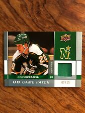 2009-10 Upper Deck Game Patches #GJDC Dino Ciccarelli 07/15 RARE NORTH STARS