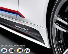 2 X BMW M lado de rendimiento Falda Coche Pegatina De Vinilo Paragolpes Ventana Calcomanía de gráficos