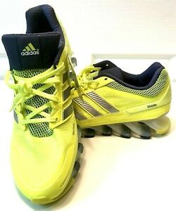 ADIDAS SPRINGBLADE Womens 12 Electric Green/Silver Road Running Lace Up Sneaker