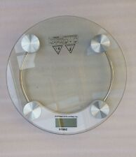 Round Digital LCD Electronic Glass Body Bathroom Gym Weight Scales 150kg