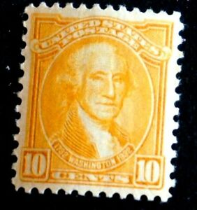 1932 US S# 715, Washington Bicentennial: 10c Washington yellow, MNH OG vf Whole