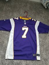 Christian Ponder Youth Large Nike NFL On Field Vikings Home Jersey