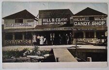 Antique Real Photo Postcard - Boardwalk - Hills Candy Shop & Souvenirs