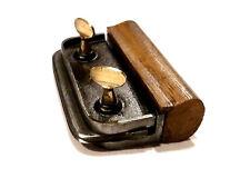 Outil ancien fer de maçonnerie à lames réglables acier bois et laiton XXème