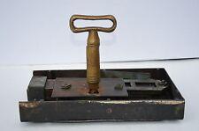 HUGE ANTIQUE IRON/BRASS DOOR RIM MORTISE BOX LOCK W. ORIGINAL HUGE SKELETON KEY