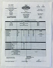 2008 Disney THE SUITE LIFE ON DECK set used CALL SHEET, Season 1 Episode 14