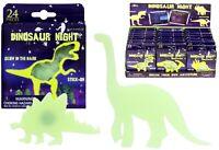 24 Glow In The Dark Dinosaurs Kids Bedroom Ceiling Wall Stickers Fun
