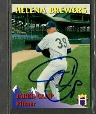 Rocky Mountain Motors #3 Jared Camp Helena Brewers Card signed autograph (E48)