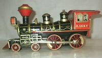 "Vintage Lucky Tin Litho Train SAN Japan 10"""