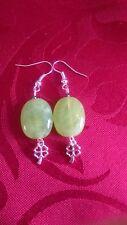 Bolas de acrílico Pastel, pequeño trébol de cuatro hojas de encanto, Plateado, Verde (323)