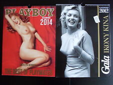 CALENDAR 2012 & PLAYBOY CALENDAR 2014 MARILYN MONROE on front cover