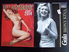 CALENDAR 2012 & PLAYBOY CALENDAR 2014 MARILYN MONROE on front cover