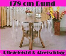 178 cm Ø Rund Tischdecke Durchsichtig Transparent SCHUTZDECKE PVC VINYL Neu