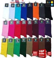 New  Mens & Women Plain Colour  Comfortable Soft Cotton Ankle Socks UK 6-11