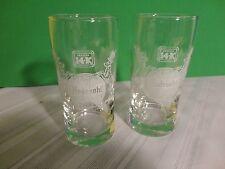 Hudepohl Beer Glass - process 14 k - Set of 2