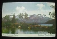 Vintage Advertising Postcard Northwest Orient Airlines Kenai Peninsula Alaska C6