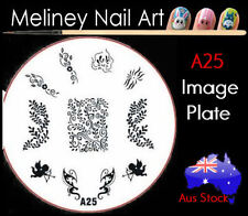 A25 Stamping Nail Art Image Plate Design Round XL Stencil metal cupid