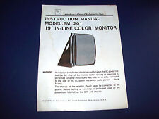 Eastern Micro Electronics Em 201 Color Display Original Video Arcade Game Manual
