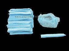100pc Disposable Head Cap BLUE Beauty Salon Clinic Bouffant Caps Aussie Seller