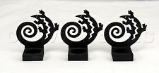 Black Metal Party Lite Lizard Bookend Candle Tealight Holders - Set of 3