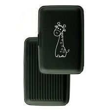 Aluminum Security Wallet Credit Card Case Purse RFID Blocking Cute Giraffe