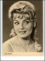 Starfoto Porträt Fernsehen Cinema Film Schauspielerin ANN SMYRNER Foto-AK 1964