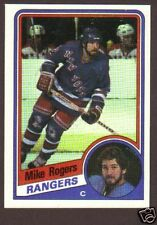 1984-85 Topps Hockey Mike Rogers #114 NY Rangers NM/MT