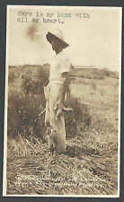 Ca 1925 RPPC* BADLY DEFORMED FINGERS OF GRAIN MAN CUTTER REAL PHOTO UNPOSTED